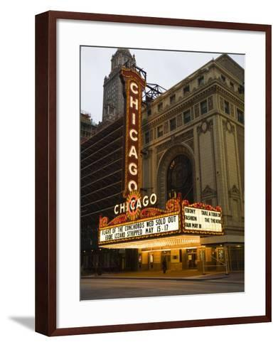 Chicago Theatre, Chicago, Illinois, United States of America, North America-Amanda Hall-Framed Art Print
