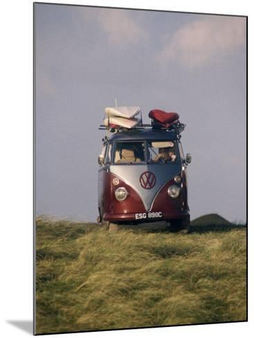 VW Camper Van with Surf Boards on Roof-Dominic Harcourt-webster-Mounted Photographic Print