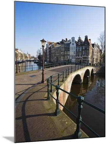Bridge over the Keizersgracht Canal, Amsterdam, Netherlands, Europe-Amanda Hall-Mounted Photographic Print