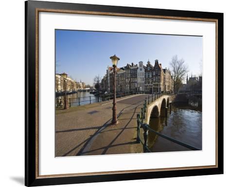 Bridge over the Keizersgracht Canal, Amsterdam, Netherlands, Europe-Amanda Hall-Framed Art Print