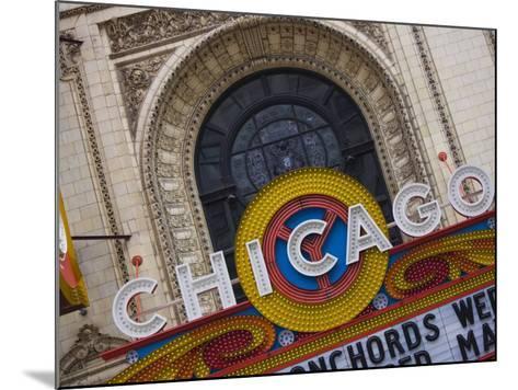 Chicago Theatre, Theatre District, Chicago, Illinois, United States of America, North America-Amanda Hall-Mounted Photographic Print