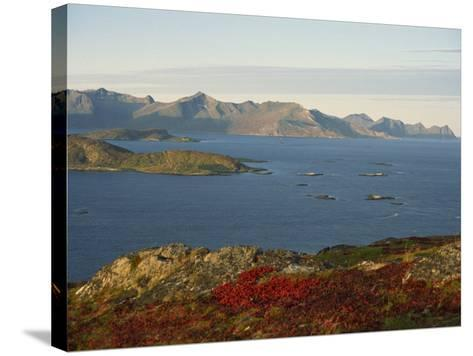 Island of Senja Viewed from Sommeroy, Near Tromso, Arctic Norway, Scandinavia, Europe-Dominic Harcourt-webster-Stretched Canvas Print