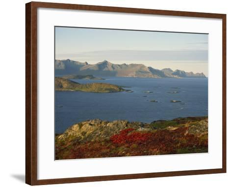 Island of Senja Viewed from Sommeroy, Near Tromso, Arctic Norway, Scandinavia, Europe-Dominic Harcourt-webster-Framed Art Print