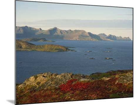 Island of Senja Viewed from Sommeroy, Near Tromso, Arctic Norway, Scandinavia, Europe-Dominic Harcourt-webster-Mounted Photographic Print