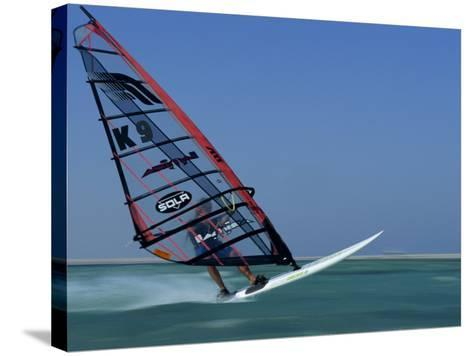 Windsurfing at Speed, Red Sea, Egypt, North Africa, Africa-Dominic Harcourt-webster-Stretched Canvas Print