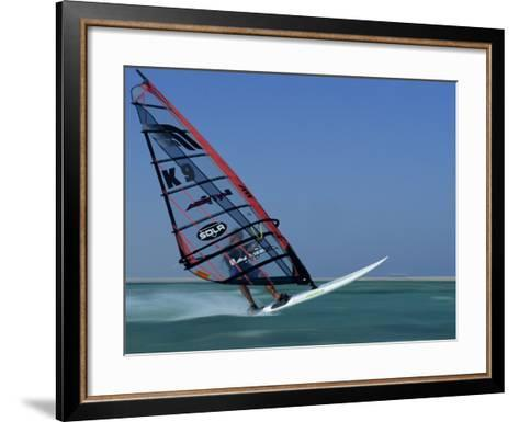 Windsurfing at Speed, Red Sea, Egypt, North Africa, Africa-Dominic Harcourt-webster-Framed Art Print