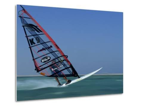 Windsurfing at Speed, Red Sea, Egypt, North Africa, Africa-Dominic Harcourt-webster-Metal Print