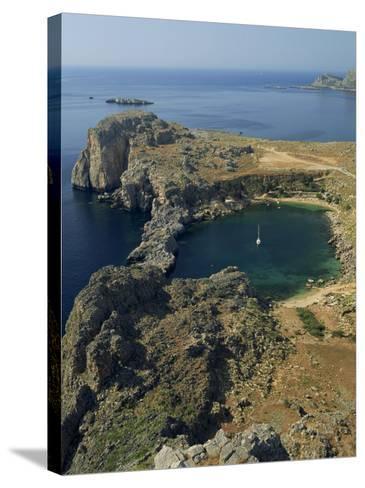 Rocky Coastline of St. Paul's Bay, Near Lindos, Rhodes, Dodecanese Islands, Greek Islands, Greece-Fraser Hall-Stretched Canvas Print