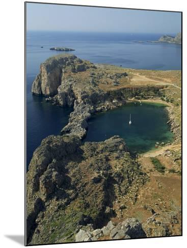 Rocky Coastline of St. Paul's Bay, Near Lindos, Rhodes, Dodecanese Islands, Greek Islands, Greece-Fraser Hall-Mounted Photographic Print