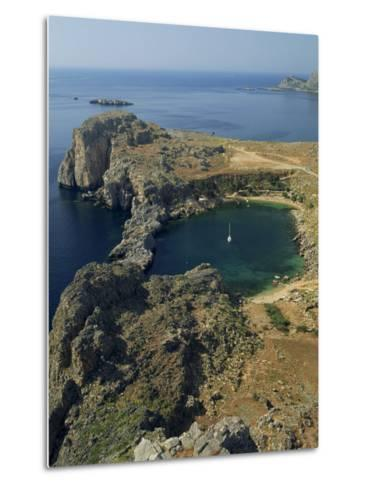 Rocky Coastline of St. Paul's Bay, Near Lindos, Rhodes, Dodecanese Islands, Greek Islands, Greece-Fraser Hall-Metal Print