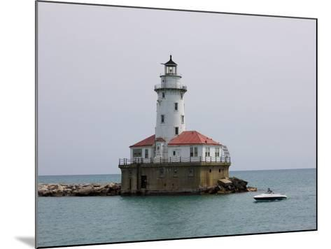 Chicago Harbor Lighthouse, Lake Michigan, Chicago, Illinois, USA-Amanda Hall-Mounted Photographic Print