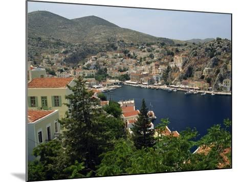 View over the Harbour and Town of Yialos on the Coast, Symi, Dodecanese Islands, Greece-Fraser Hall-Mounted Photographic Print