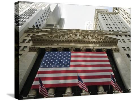 Stock Exchange, Financial District, Lower Manhattan, New York City, New York, USA-Robert Harding-Stretched Canvas Print