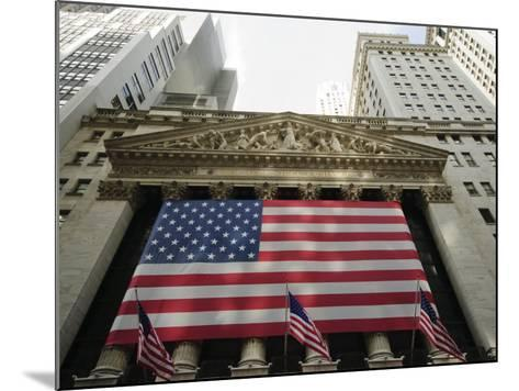 Stock Exchange, Financial District, Lower Manhattan, New York City, New York, USA-Robert Harding-Mounted Photographic Print