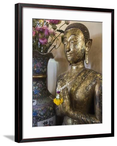 Buddha at Sukhothai Traimit Temple, Bangkok, Thailand, Southeast Asia-Robert Harding-Framed Art Print