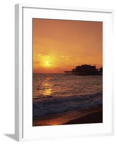 Seafront, Brighton, Sussex, England, United Kingdom, Europe-Amanda Hall-Framed Art Print
