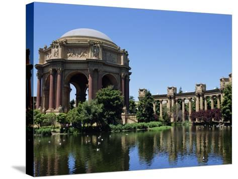 Palace of Fine Arts, Built of Plaster in 1915, Marina District, San Francisco, California, USA-Fraser Hall-Stretched Canvas Print