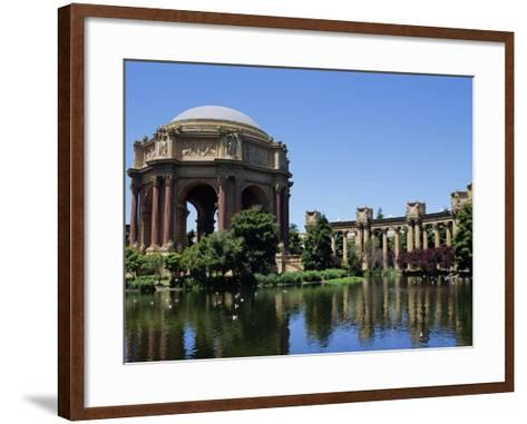 Palace of Fine Arts, Built of Plaster in 1915, Marina District, San Francisco, California, USA-Fraser Hall-Framed Art Print