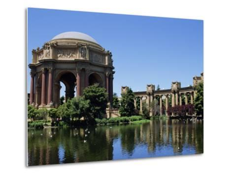 Palace of Fine Arts, Built of Plaster in 1915, Marina District, San Francisco, California, USA-Fraser Hall-Metal Print