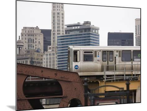 El Train on the Elevated Train System, the Loop, Chicago, Illinois, USA-Amanda Hall-Mounted Photographic Print