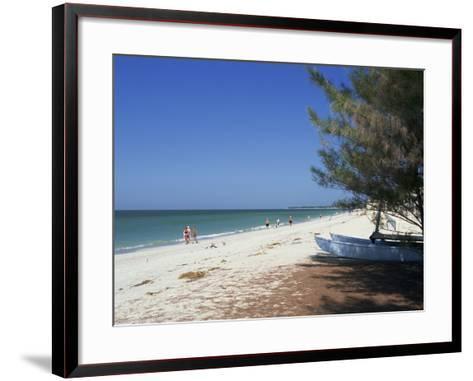 Beach North of Longboat Key, Anna Maria Island, Gulf Coast, Florida, USA-Fraser Hall-Framed Art Print