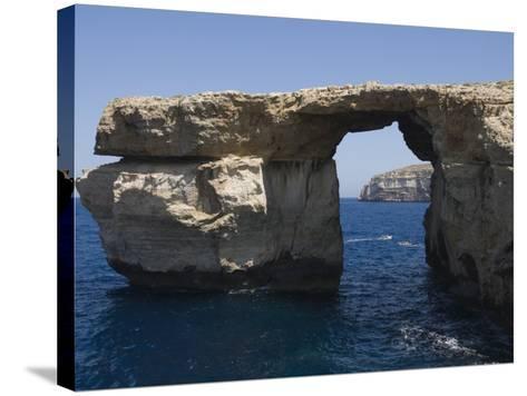 Azure Window at Dwejra Point, Gozo, Malta, Europe-Robert Harding-Stretched Canvas Print