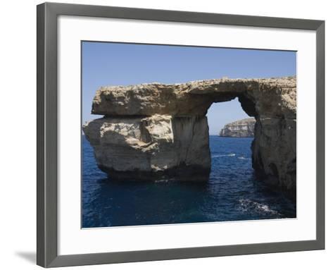 Azure Window at Dwejra Point, Gozo, Malta, Europe-Robert Harding-Framed Art Print
