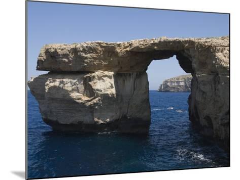 Azure Window at Dwejra Point, Gozo, Malta, Europe-Robert Harding-Mounted Photographic Print