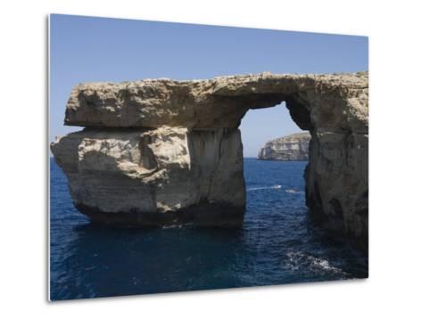 Azure Window at Dwejra Point, Gozo, Malta, Europe-Robert Harding-Metal Print