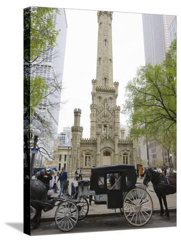 Historic Water Tower, North Michigan Avenue, Chicago, Illinois, USA-Amanda Hall-Stretched Canvas Print