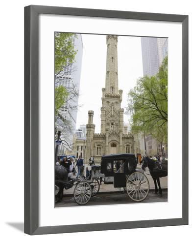 Historic Water Tower, North Michigan Avenue, Chicago, Illinois, USA-Amanda Hall-Framed Art Print
