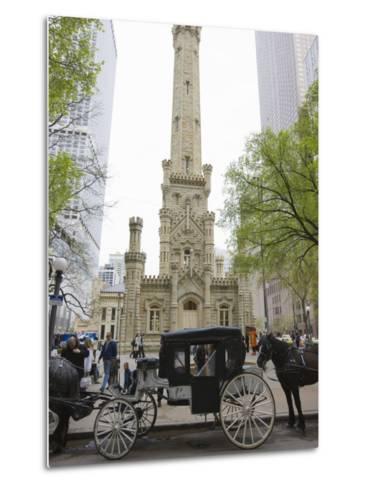 Historic Water Tower, North Michigan Avenue, Chicago, Illinois, USA-Amanda Hall-Metal Print