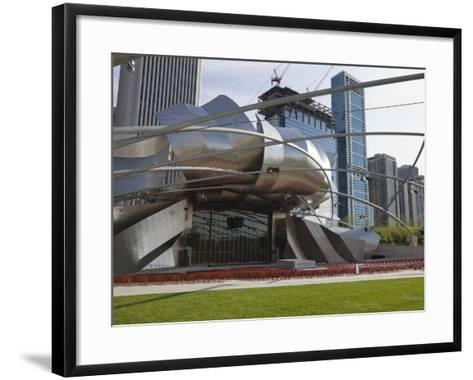 Jay Pritzker Pavilion Designed by Frank Gehry, Millennium Park, Chicago, Illinois, USA-Amanda Hall-Framed Art Print