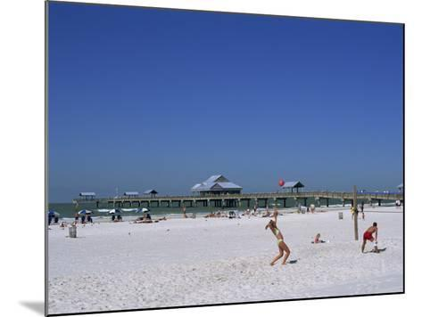 Beach and Pier, Clearwater Beach, Florida, United States of America, North America-Fraser Hall-Mounted Photographic Print
