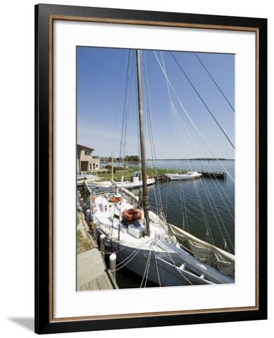 Skipjack Sailing Boat, Chesapeake Bay Maritime Museum, St. Michaels, Maryland, USA-Robert Harding-Framed Art Print