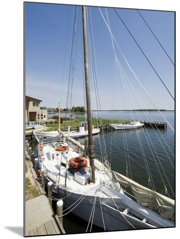 Skipjack Sailing Boat, Chesapeake Bay Maritime Museum, St. Michaels, Maryland, USA-Robert Harding-Mounted Photographic Print