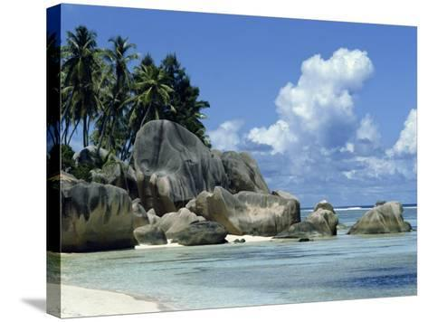 Grand Anse, La Digue, Seychelles, Indian Ocean, Africa-Robert Harding-Stretched Canvas Print