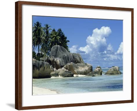 Grand Anse, La Digue, Seychelles, Indian Ocean, Africa-Robert Harding-Framed Art Print