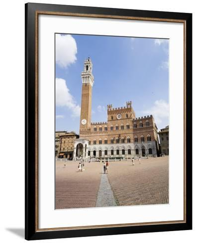 Piazza Del Campo and the Palazzo Pubblico with its Amazing Bell Tower, Siena, Tuscany, Italy-Robert Harding-Framed Art Print