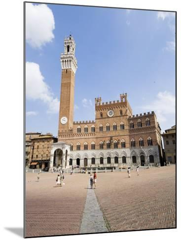Piazza Del Campo and the Palazzo Pubblico with its Amazing Bell Tower, Siena, Tuscany, Italy-Robert Harding-Mounted Photographic Print
