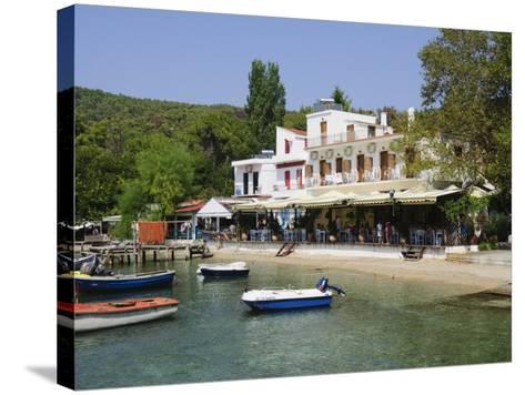 Small Fishing Harbour of Agnontas, Skopelos, Sporades Islands, Greek Islands, Greece, Europe-Robert Harding-Stretched Canvas Print