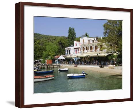 Small Fishing Harbour of Agnontas, Skopelos, Sporades Islands, Greek Islands, Greece, Europe-Robert Harding-Framed Art Print