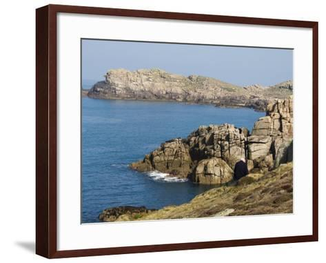 Hell Bay on a Calm Day, Bryer, Isles of Scilly, Off Cornwall, United Kingdom, Europe-Robert Harding-Framed Art Print