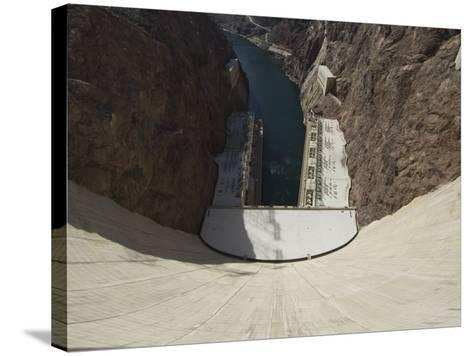 Hoover Dam on the Colorado River Forming the Border Between Arizona and Nevada, USA-Robert Harding-Stretched Canvas Print