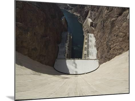 Hoover Dam on the Colorado River Forming the Border Between Arizona and Nevada, USA-Robert Harding-Mounted Photographic Print
