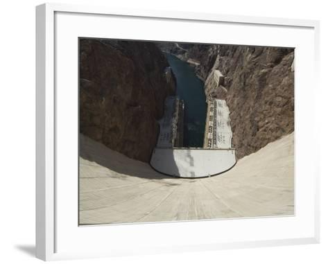 Hoover Dam on the Colorado River Forming the Border Between Arizona and Nevada, USA-Robert Harding-Framed Art Print