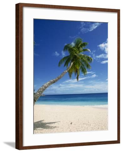 Beach, Mahe, Seychelles, Indian Ocean, Africa-Robert Harding-Framed Art Print