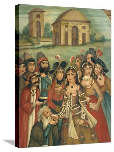 Qajar Painting, Shiraz Museum, Iran, Middle East-Robert Harding-Stretched Canvas Print