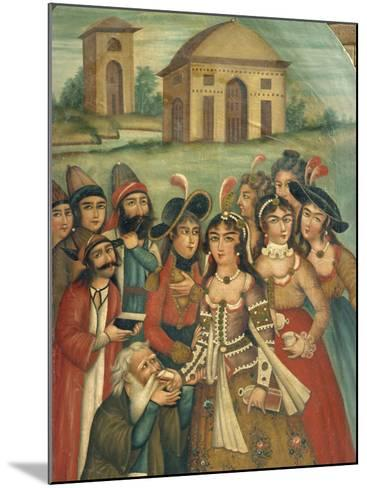 Qajar Painting, Shiraz Museum, Iran, Middle East-Robert Harding-Mounted Photographic Print