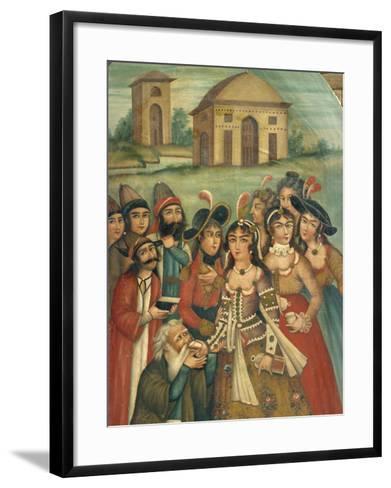 Qajar Painting, Shiraz Museum, Iran, Middle East-Robert Harding-Framed Art Print